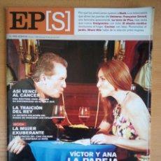 Coleccionismo de Periódico El País: EL PAÍS SEMANAL - 10 DE JUNIO DE 2001 - NÚMERO 1289 - VÍCTOR MANUEL - ANA BELÉN. Lote 130770640