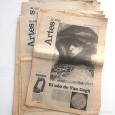 Coleccionismo de Periódico El País: 13 SUPLEMENTOS ARTES 1991 - EL PAÍS: 95, 130, 148, 150, 152, 154, 157, 158, 159, 160, 161, 163, 174. Lote 130915728