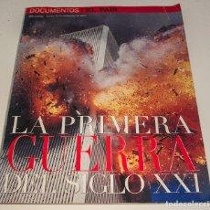 Coleccionismo de Periódico El País: LA PRIMERA GUERRA DEL SIGLO XXI -DOCUMENTOS EL PAIS - ESPECIAL ATENTADOS 11S. 20 SEPT. 2001. Lote 142138542