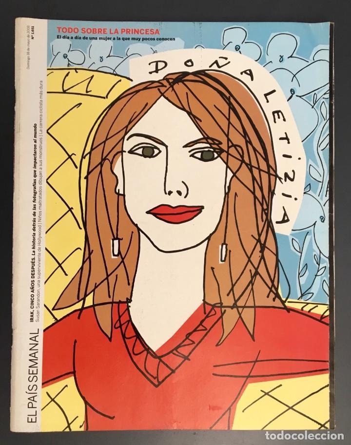 DOÑA LETIZIA - PORTADA DESPLEGABLE DE OSCAR MARINÉ 2008 (Coleccionismo - Revistas y Periódicos Modernos (a partir de 1.940) - Periódico El Páis)