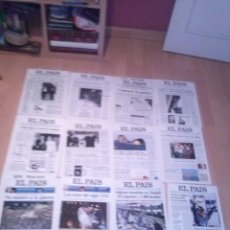 Coleccionismo de Periódico El País: EL PAÍS. COLECCIÓN DE 24 PORTADAS EN CARTULINA (28 X 39 CM). Lote 137296418