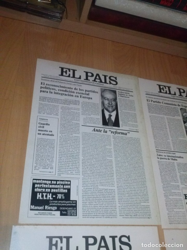 Coleccionismo de Periódico El País: EL PAÍS. COLECCIÓN DE 24 PORTADAS EN CARTULINA (28 x 39 CM) - Foto 2 - 137296418
