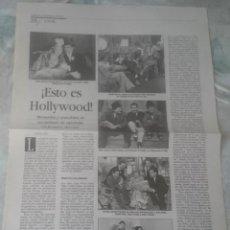 Coleccionismo de Periódico El País: ¡ESTO ES HOLLYWOOD!. ESPAÑOLES EN LA MECA DEL CINE (BABELIA 1995). Lote 137470586