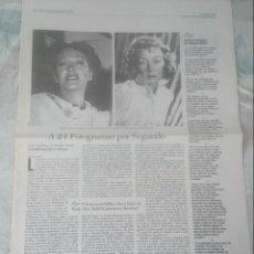 Coleccionismo de Periódico El País: RESEÑA DE CINE O SARDINA DE CABRERA INFANTE. POR ROSA PEREDA (BABELIA 1997). Lote 137470730