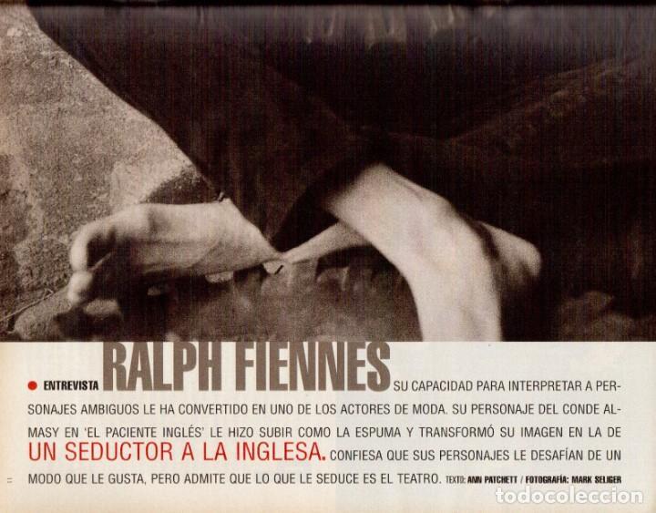 Coleccionismo de Periódico El País: 1999. RALF FIENNES. PETE SAMPRAS. MARÍA ESTEVE. VER SUMARIO. - Foto 4 - 138053858