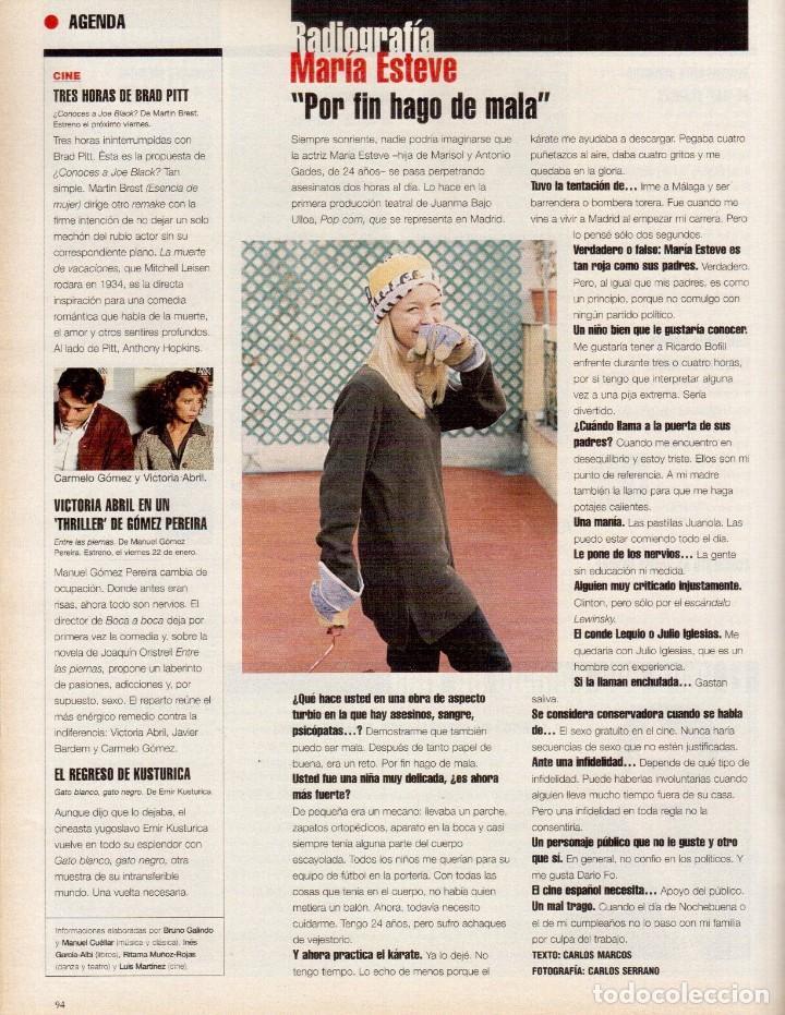 Coleccionismo de Periódico El País: 1999. RALF FIENNES. PETE SAMPRAS. MARÍA ESTEVE. VER SUMARIO. - Foto 10 - 138053858