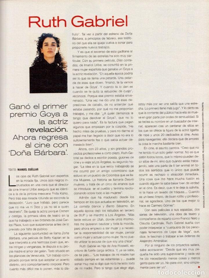 Coleccionismo de Periódico El País: 1999. ROSANA. WILLIAM FORD, PRESIDENTE. NUEVA YORK EN BARCELONA. RUTH GABRIEL. RAIMUNDO AMADOR. VER - Foto 13 - 138056826
