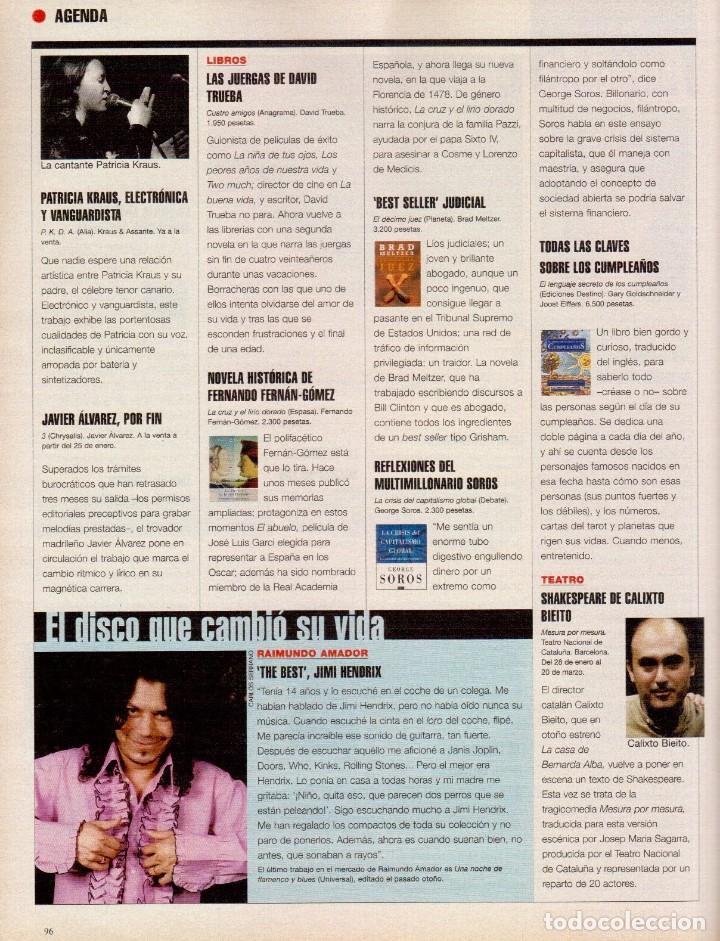 Coleccionismo de Periódico El País: 1999. ROSANA. WILLIAM FORD, PRESIDENTE. NUEVA YORK EN BARCELONA. RUTH GABRIEL. RAIMUNDO AMADOR. VER - Foto 14 - 138056826