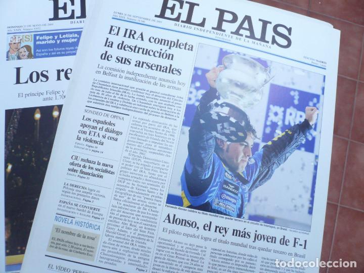Coleccionismo de Periódico El País: LAS PORTADAS EL PAIS. UNA HISTORIA DE LOS ÚLTIMOS 30 AÑOS. 30 PORTADAS. DE 1976 A 2006 - Foto 5 - 138057910