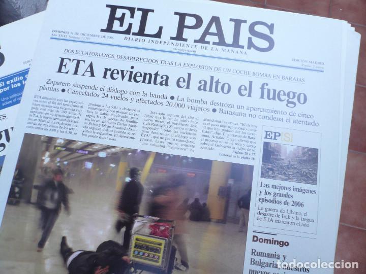 Coleccionismo de Periódico El País: LAS PORTADAS EL PAIS. UNA HISTORIA DE LOS ÚLTIMOS 30 AÑOS. 30 PORTADAS. DE 1976 A 2006 - Foto 6 - 138057910