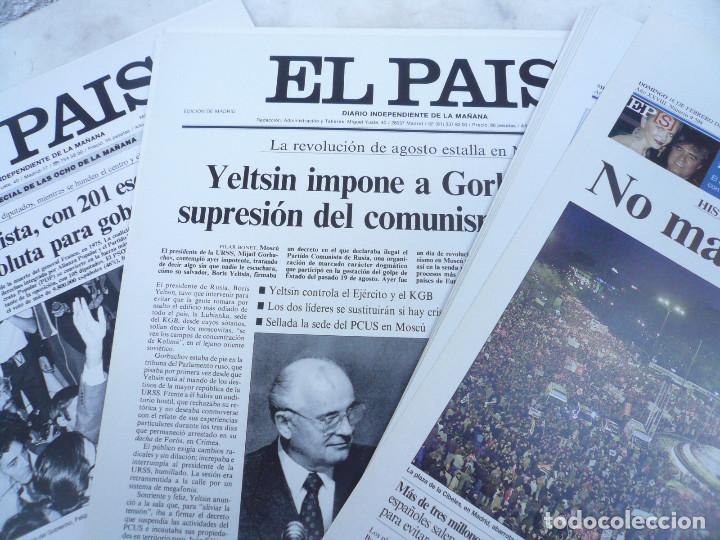 Coleccionismo de Periódico El País: LAS PORTADAS EL PAIS. UNA HISTORIA DE LOS ÚLTIMOS 30 AÑOS. 30 PORTADAS. DE 1976 A 2006 - Foto 8 - 138057910
