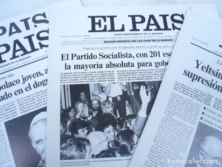 Coleccionismo de Periódico El País: LAS PORTADAS EL PAIS. UNA HISTORIA DE LOS ÚLTIMOS 30 AÑOS. 30 PORTADAS. DE 1976 A 2006 - Foto 9 - 138057910