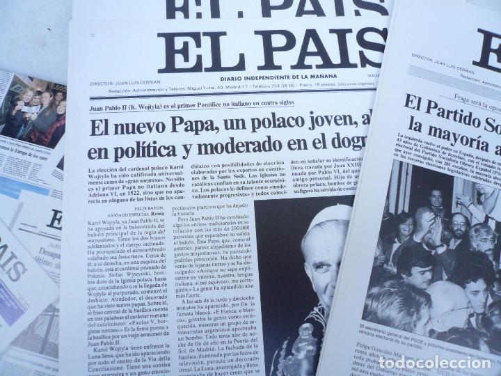 Coleccionismo de Periódico El País: LAS PORTADAS EL PAIS. UNA HISTORIA DE LOS ÚLTIMOS 30 AÑOS. 30 PORTADAS. DE 1976 A 2006 - Foto 10 - 138057910