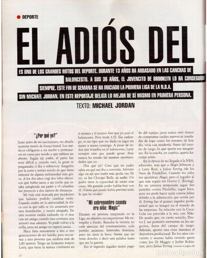 Coleccionismo de Periódico El País: 1999. EDUARDO ARROYO. 20 PÁGS. LUIS CIGES. MICHAEL JORDAN. CARBAGE. HIJAS DEL SOL. VER SUMARIO. - Foto 4 - 138062454