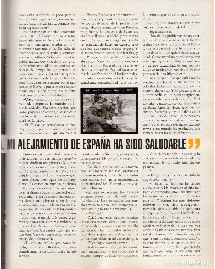 Coleccionismo de Periódico El País: 1999. EDUARDO ARROYO. 20 PÁGS. LUIS CIGES. MICHAEL JORDAN. CARBAGE. HIJAS DEL SOL. VER SUMARIO. - Foto 9 - 138062454