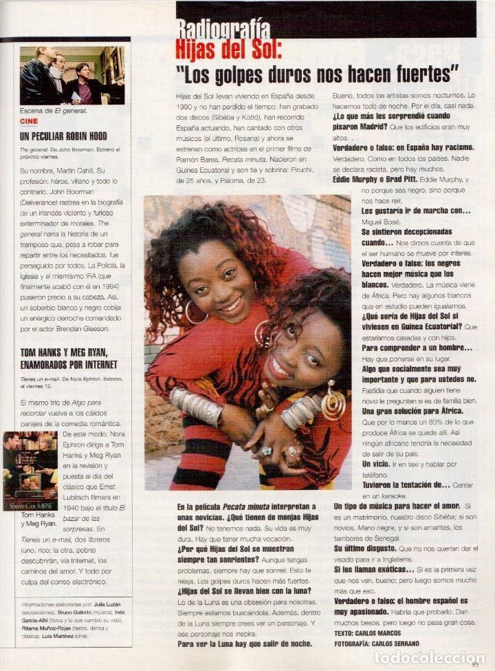 Coleccionismo de Periódico El País: 1999. EDUARDO ARROYO. 20 PÁGS. LUIS CIGES. MICHAEL JORDAN. CARBAGE. HIJAS DEL SOL. VER SUMARIO. - Foto 13 - 138062454