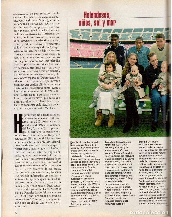 Coleccionismo de Periódico El País: 1999. BARÇA, CENTENARIO FELIZ. ANA FERRER, DESPUÉS DEL CASO ROLDÁN. SAINT KITTS. JENNIFER LÓPEZ. VER - Foto 8 - 138615062