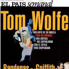 Coleccionismo de Periódico El País: 1999. BANDERAS - GRIFFITH. LA CASA DE SALVADOR DALÍ. ANA FERNÁNDEZ. VER SUMARIO. . Lote 138722098