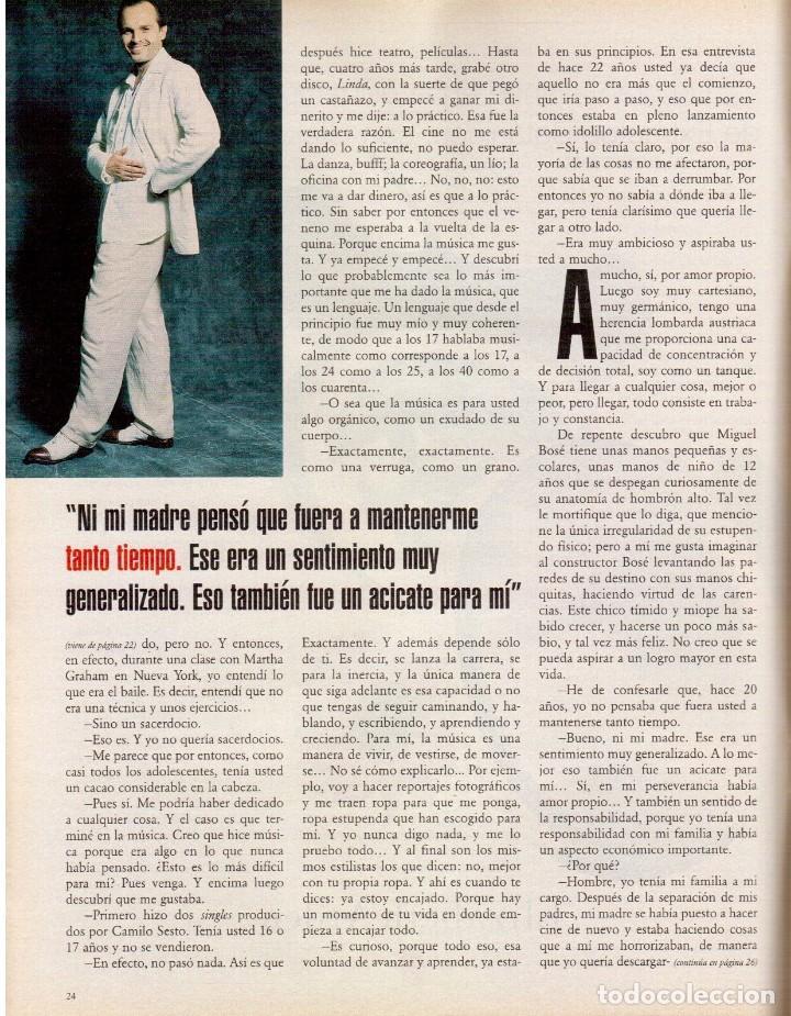 Coleccionismo de Periódico El País: 1999. MIGUEL BOSÉ (9 PÁGS). EUGENIA SILVA. ELENA ANAYA Y LEONOR WATLING. ASSUMPTA SERNA. VER - Foto 6 - 138746322