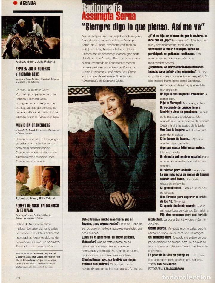Coleccionismo de Periódico El País: 1999. MIGUEL BOSÉ (9 PÁGS). EUGENIA SILVA. ELENA ANAYA Y LEONOR WATLING. ASSUMPTA SERNA. VER - Foto 16 - 138746322