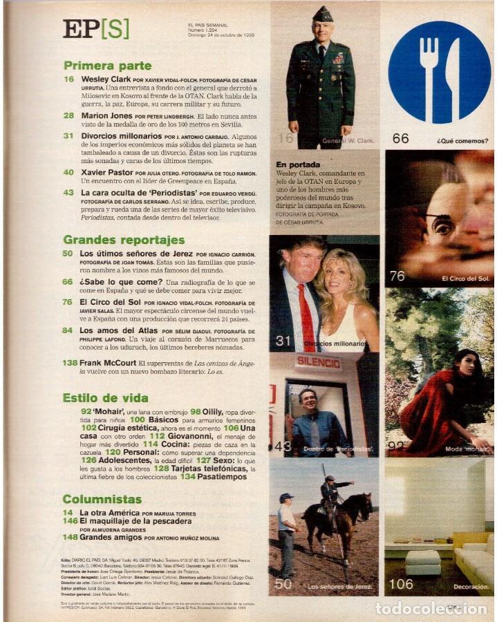 Coleccionismo de Periódico El País: 1999. MARION JONES. MICK JAGGER. DONALD TRUMP. XAVIER PASTOR. VER SUMARIO. - Foto 2 - 138821946