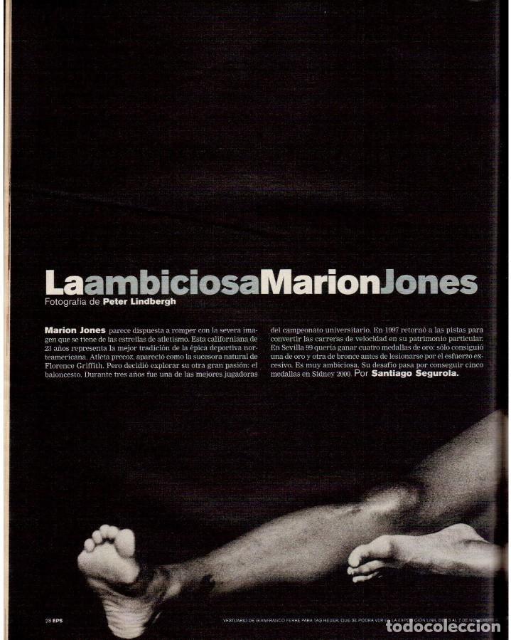 Coleccionismo de Periódico El País: 1999. MARION JONES. MICK JAGGER. DONALD TRUMP. XAVIER PASTOR. VER SUMARIO. - Foto 3 - 138821946