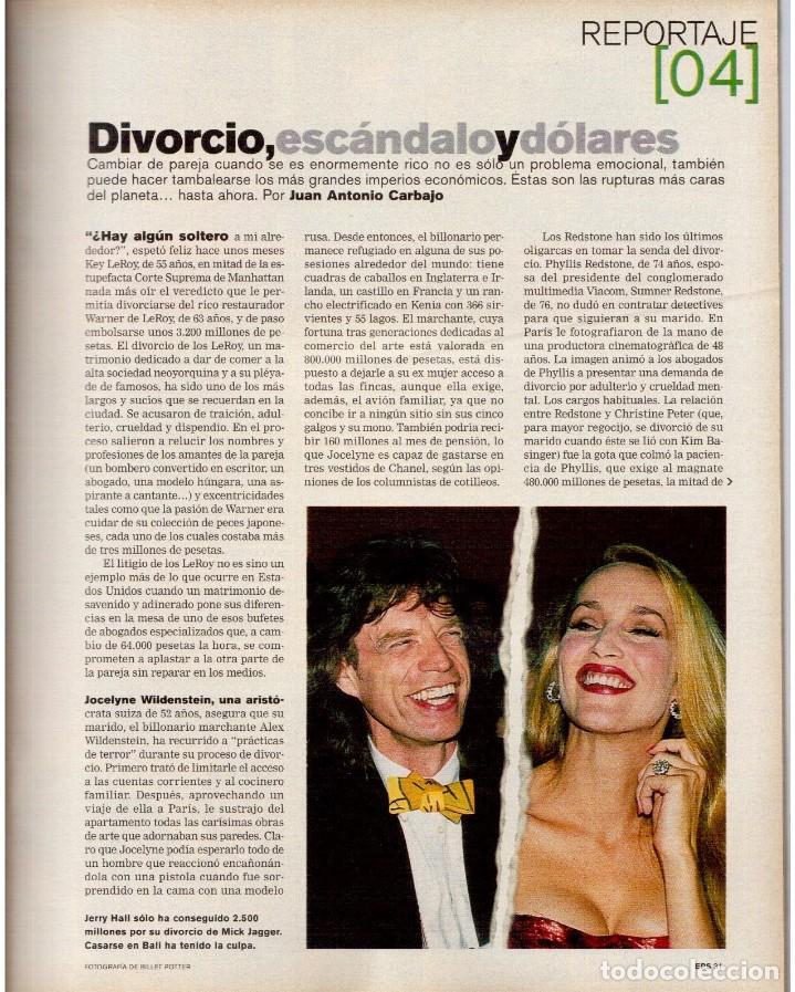 Coleccionismo de Periódico El País: 1999. MARION JONES. MICK JAGGER. DONALD TRUMP. XAVIER PASTOR. VER SUMARIO. - Foto 5 - 138821946