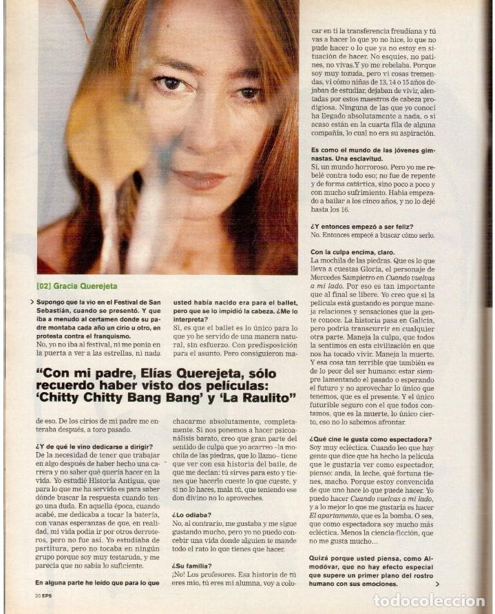 Coleccionismo de Periódico El País: 1999. GRACIA QUEREJETA. TARZÁN. MANOLITA CHEN. ERNEST SHACKLETON. VER SUMARIO. - Foto 4 - 138848070