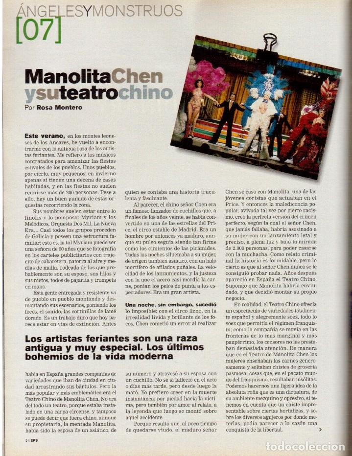 Coleccionismo de Periódico El País: 1999. GRACIA QUEREJETA. TARZÁN. MANOLITA CHEN. ERNEST SHACKLETON. VER SUMARIO. - Foto 7 - 138848070