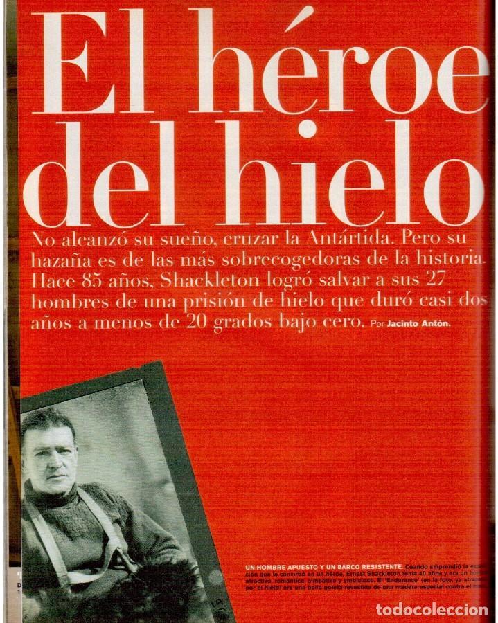 Coleccionismo de Periódico El País: 1999. GRACIA QUEREJETA. TARZÁN. MANOLITA CHEN. ERNEST SHACKLETON. VER SUMARIO. - Foto 9 - 138848070