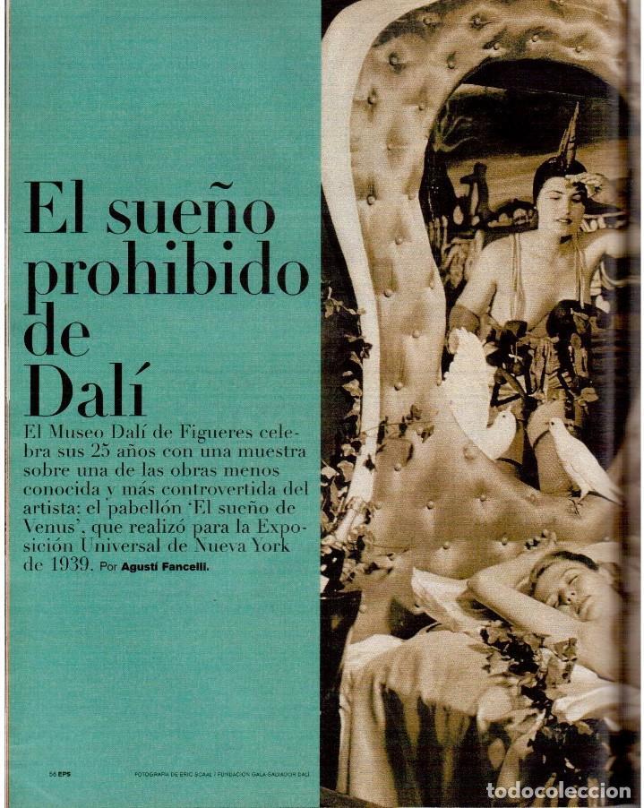Coleccionismo de Periódico El País: 1999. JON SOBRINO. EL SUEÑO PROHIBIDO DE DALÍ. LA JUANI. VER SUMARIO. - Foto 4 - 138852690
