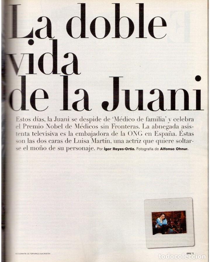 Coleccionismo de Periódico El País: 1999. JON SOBRINO. EL SUEÑO PROHIBIDO DE DALÍ. LA JUANI. VER SUMARIO. - Foto 12 - 138852690