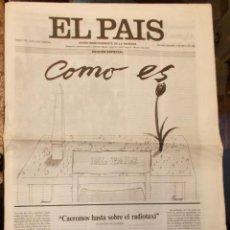 Coleccionismo de Periódico El País: DÉCIMO ANIVERSARIO EL PAÍS 16 HOJAS 4 DE MAYO 1986 PAPEL MUY FINO BLANCO. Lote 141348374