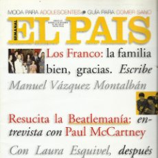 Coleccionismo de Periódico El País: EL PAIS SEMANAL.BEATLES PAUL MCCARTNEY.LENNON.ANTHOLOGY.BEATLEMANIA...REV COMPLETA + 8 REGALOS. Lote 142833882