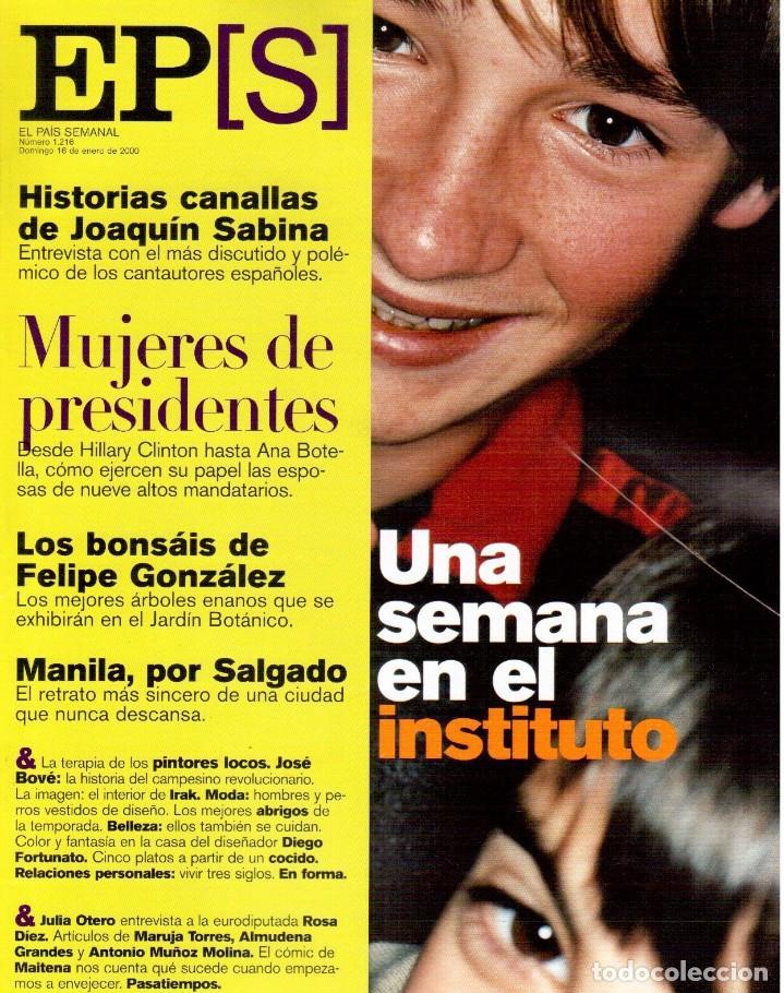 2000. EL PAIS SEMANAL 16.1.2000 (Coleccionismo - Revistas y Periódicos Modernos (a partir de 1.940) - Periódico El Páis)