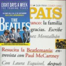Coleccionismo de Periódico El País: EL PAÍS SEMANAL. BEATLES. MCCARTNEY. LENNON BEATLEMANIA ANTHOLOGY + FLYER + NOTICIA MUY BUEN ESTADO.. Lote 144294114