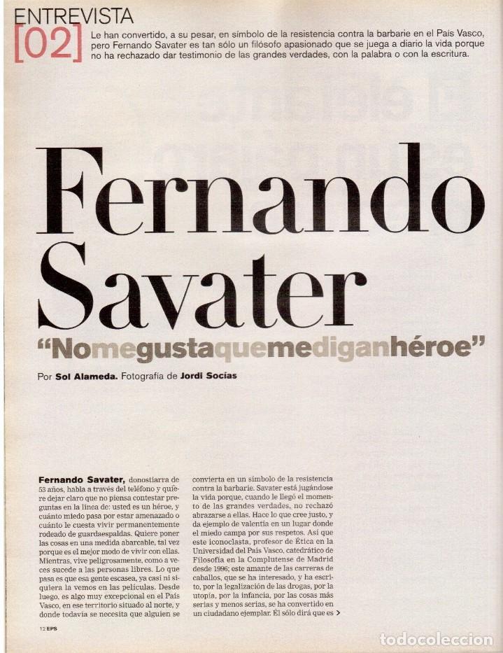 Coleccionismo de Periódico El País: 2001. INÉS SASTRE. MARTA SÁNCHEZ. MÓNICA NARANJO. LUZ CASAL. ANA TORROJA. VER SUMARIO. - Foto 3 - 145023182