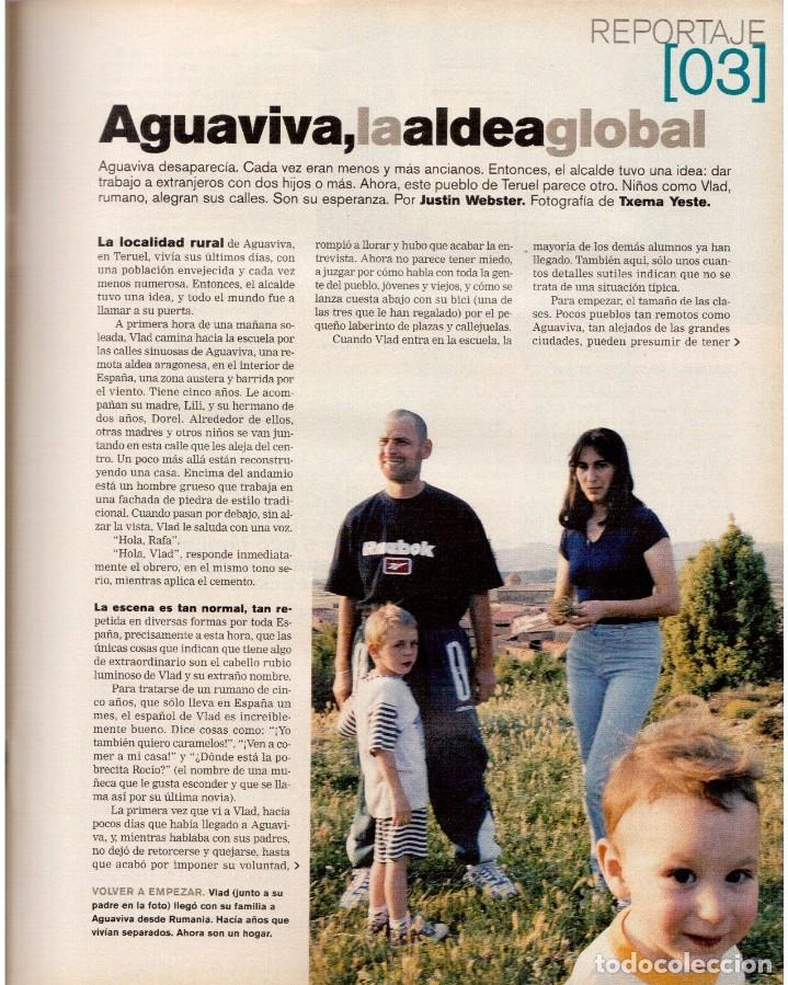 Coleccionismo de Periódico El País: 2001. GERALDINE CHAPLIN. AGUAVIVA. CAROLINA HERRERA. LA MATANZA DE NEPAL. RITA HAYWORTH Y O. WELLES. - Foto 4 - 145690058