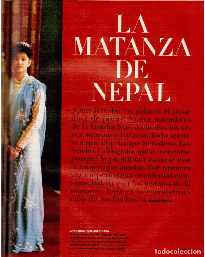 Coleccionismo de Periódico El País: 2001. GERALDINE CHAPLIN. AGUAVIVA. CAROLINA HERRERA. LA MATANZA DE NEPAL. RITA HAYWORTH Y O. WELLES. - Foto 7 - 145690058