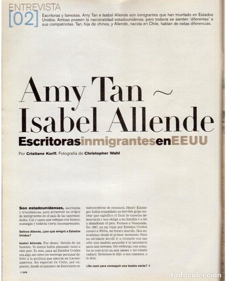 Coleccionismo de Periódico El País: 2001. AMY TAN. ISABEL ALLENDE. EVA YERBABUENA. EL SEÑOR DE LOS ANILLOS. GAY MERCADER. ROLLING STONES - Foto 3 - 145737554