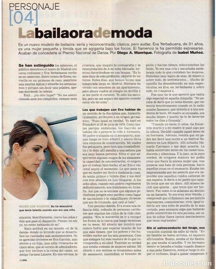 Coleccionismo de Periódico El País: 2001. AMY TAN. ISABEL ALLENDE. EVA YERBABUENA. EL SEÑOR DE LOS ANILLOS. GAY MERCADER. ROLLING STONES - Foto 5 - 145737554