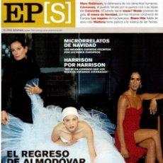 Coleccionismo de Periódico El País: 2001. MARY ROBINSON. ROSARIO FLORES. LEONOR WATLING. GERALDINE CHAPLIN. GEORGE HARRISON. ALASKA. . Lote 145741294