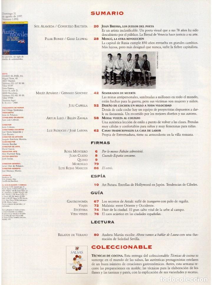 Coleccionismo de Periódico El País: 1997. david byrne. carlos checa. joan brossa. sembrados de muerte. ver sumario. - Foto 2 - 145790394