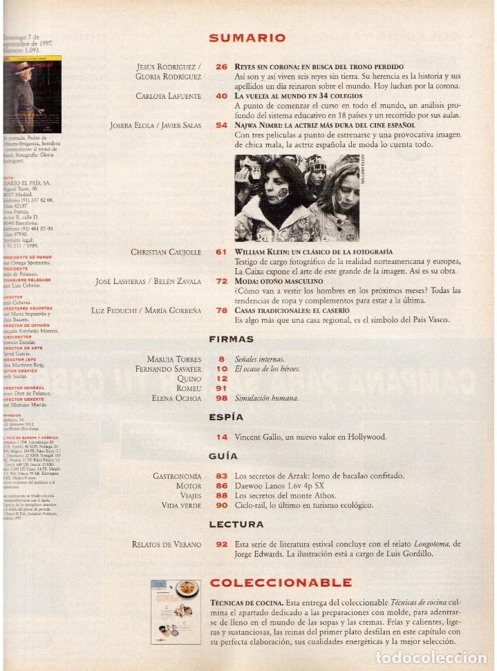 Coleccionismo de Periódico El País: 1997. najwa nimri. william klein. vicent gallo. jacques brel. u2. juan diego botto. ver sumario - Foto 2 - 145791894