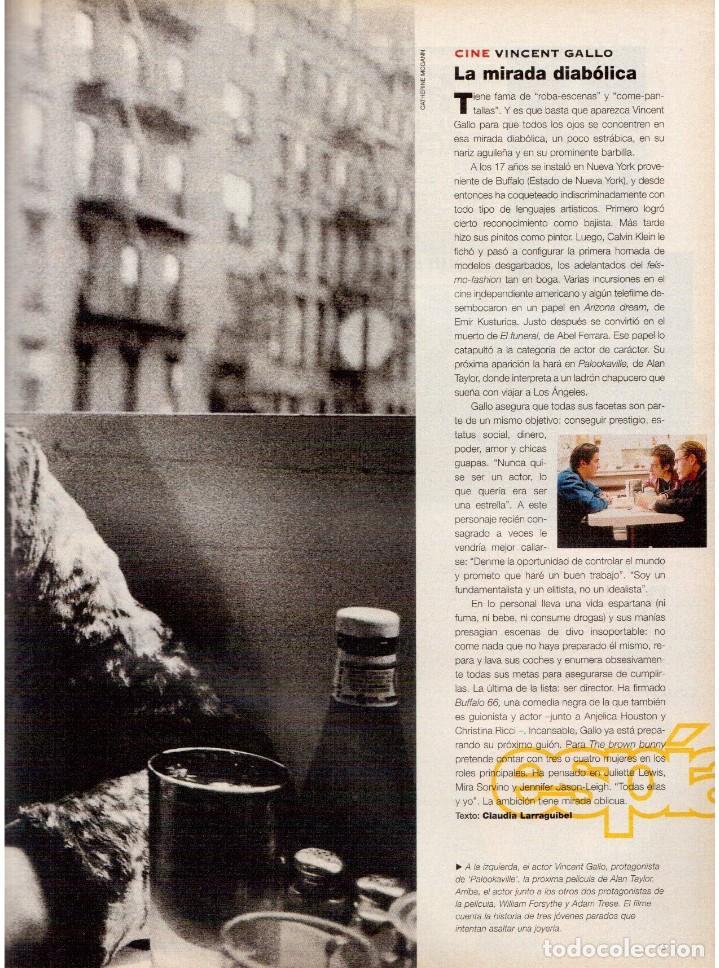 Coleccionismo de Periódico El País: 1997. najwa nimri. william klein. vicent gallo. jacques brel. u2. juan diego botto. ver sumario - Foto 4 - 145791894