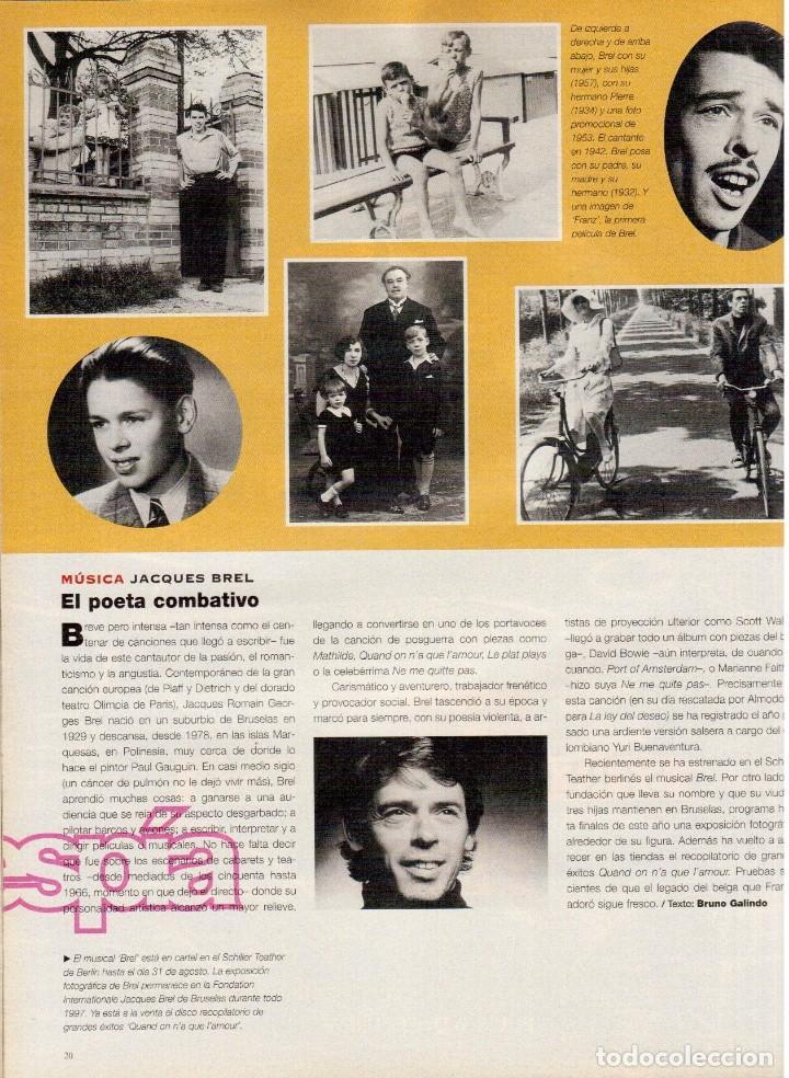 Coleccionismo de Periódico El País: 1997. najwa nimri. william klein. vicent gallo. jacques brel. u2. juan diego botto. ver sumario - Foto 5 - 145791894