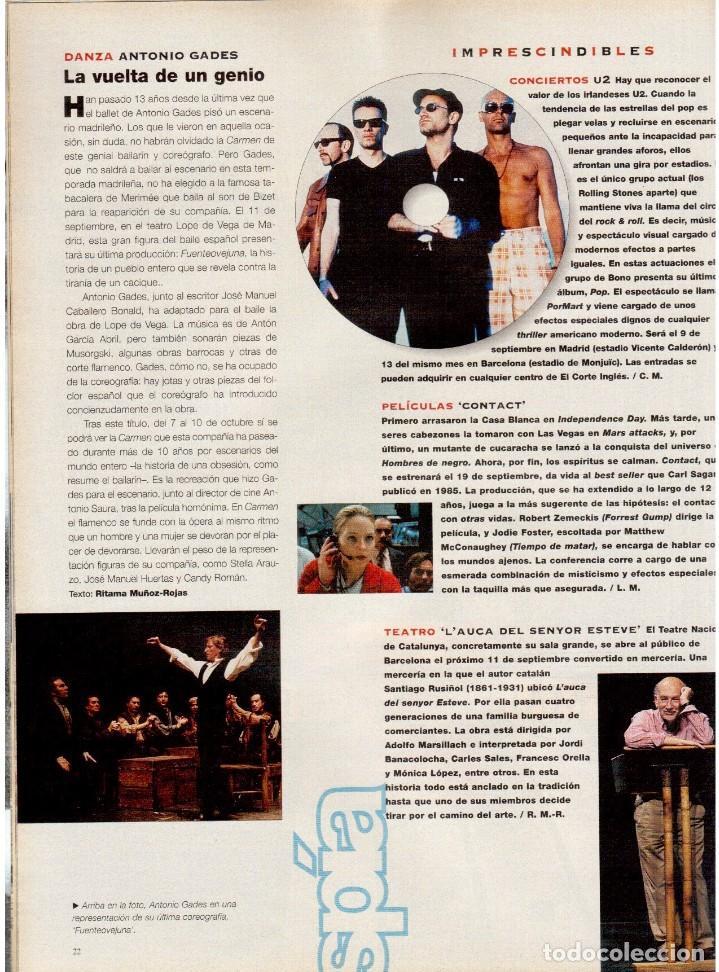 Coleccionismo de Periódico El País: 1997. najwa nimri. william klein. vicent gallo. jacques brel. u2. juan diego botto. ver sumario - Foto 6 - 145791894