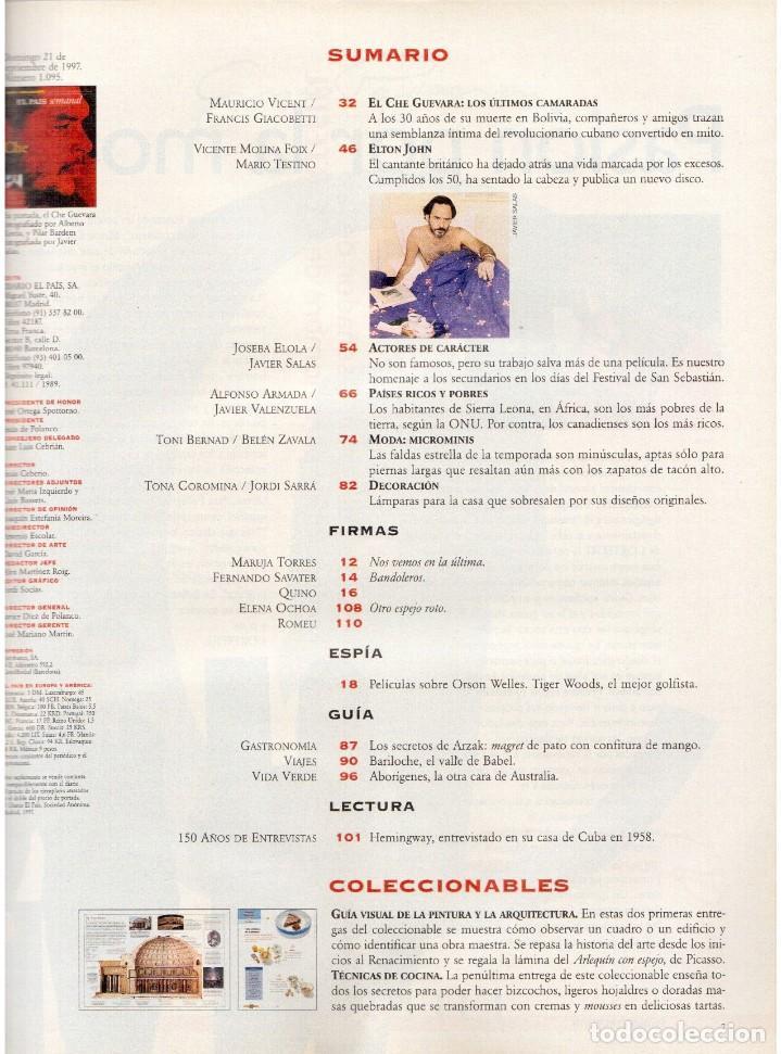 Coleccionismo de Periódico El País: 1997. 30 años del che guevara. elton john. carmen conesa. luis cuenca. kiti manver. nathalie seseña - Foto 2 - 145877962