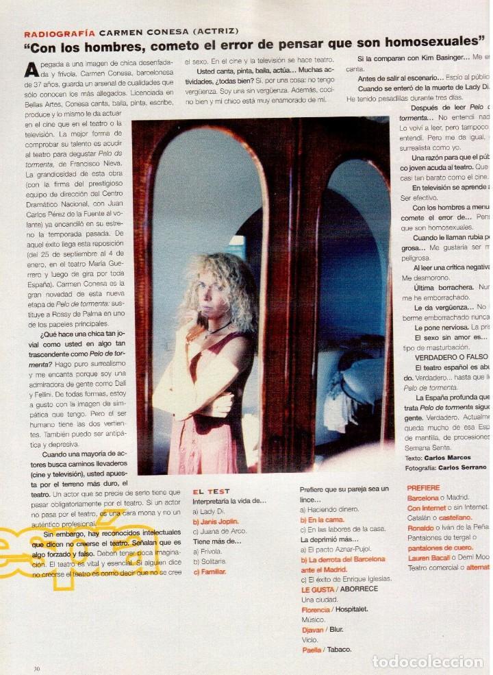 Coleccionismo de Periódico El País: 1997. 30 años del che guevara. elton john. carmen conesa. luis cuenca. kiti manver. nathalie seseña - Foto 3 - 145877962