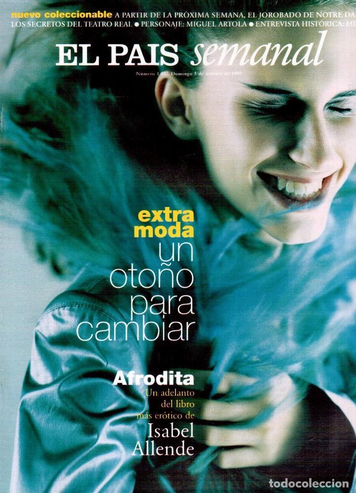 1997. MIRA SORBINO. PATTI SMITH. LOLA BALDRICH. MIGUEL ARTOLA. DONNA KARAN. MIRÓ. VER SUMARIO. (Coleccionismo - Revistas y Periódicos Modernos (a partir de 1.940) - Periódico El Páis)